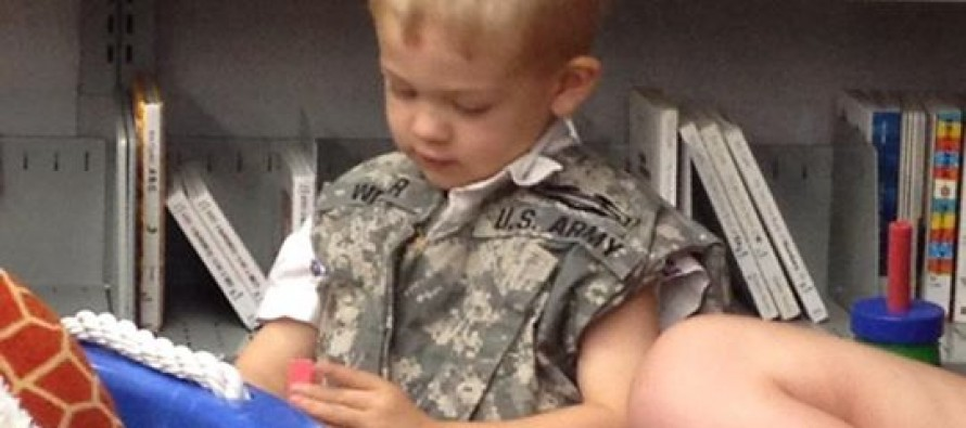 This Mother Took Her Husband's Old Military Vest and Did Something Awesome for Her Autistic Son