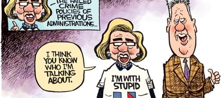 Hillary Bill Crime (Cartoon)