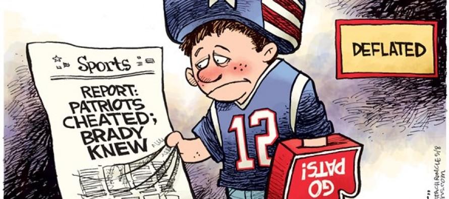 Pats Fan Deflated (Cartoon)