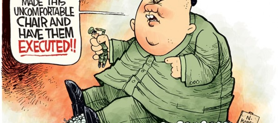 Kim Jong Un Executes (Cartoon)