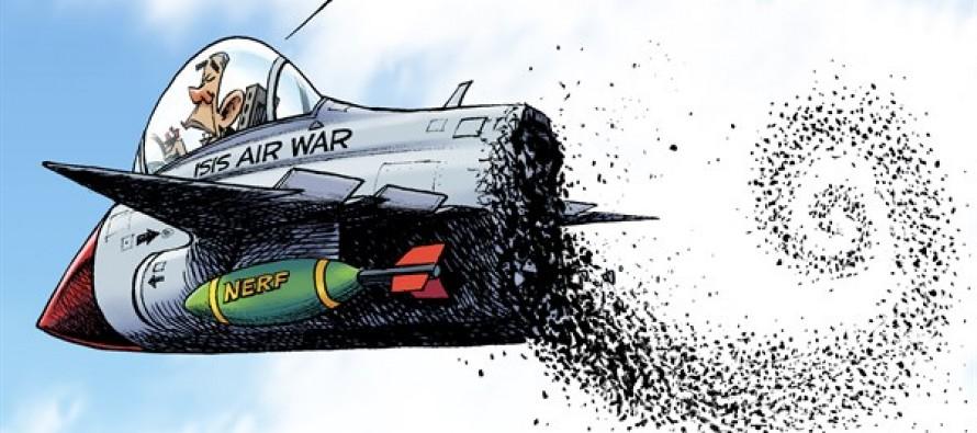 Bombs Over ISIS (Cartoon)