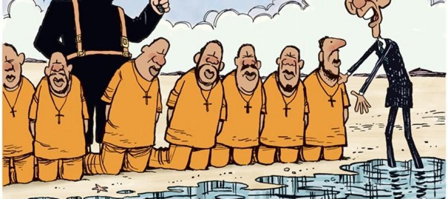 Obama Fights Climate Change (Cartoon)