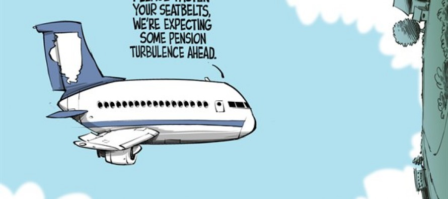 Government pensions (Cartoon)