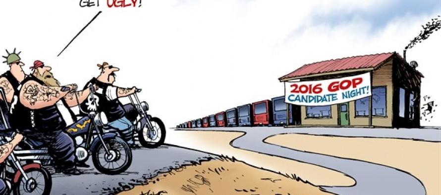 Republican Brawlers (Cartoon)