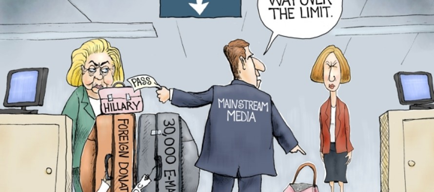 Hillary Baggage (Cartoon)
