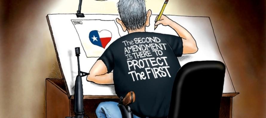 Protecting Free Speech (Cartoon)