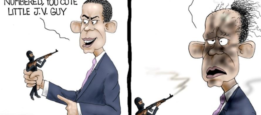 ISIS Setbacks (Cartoon)