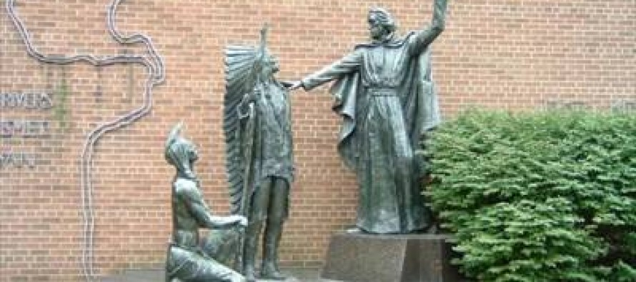 """[VIDEO] UPDATED: SLU Removes """"Racist"""" Jesuit Missionary Statue and Replaces with Ferguson Protester Statue"""