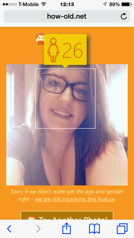 Here's how 'old' Microsoft says I am. I'll take it.