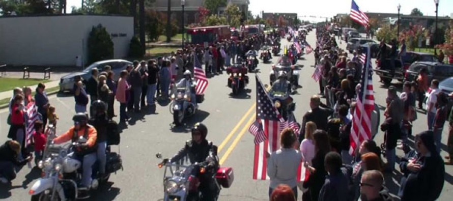 Thugs Tried To Ruin A Marine's Funeral, Watch These Bikers Set Em' Straight