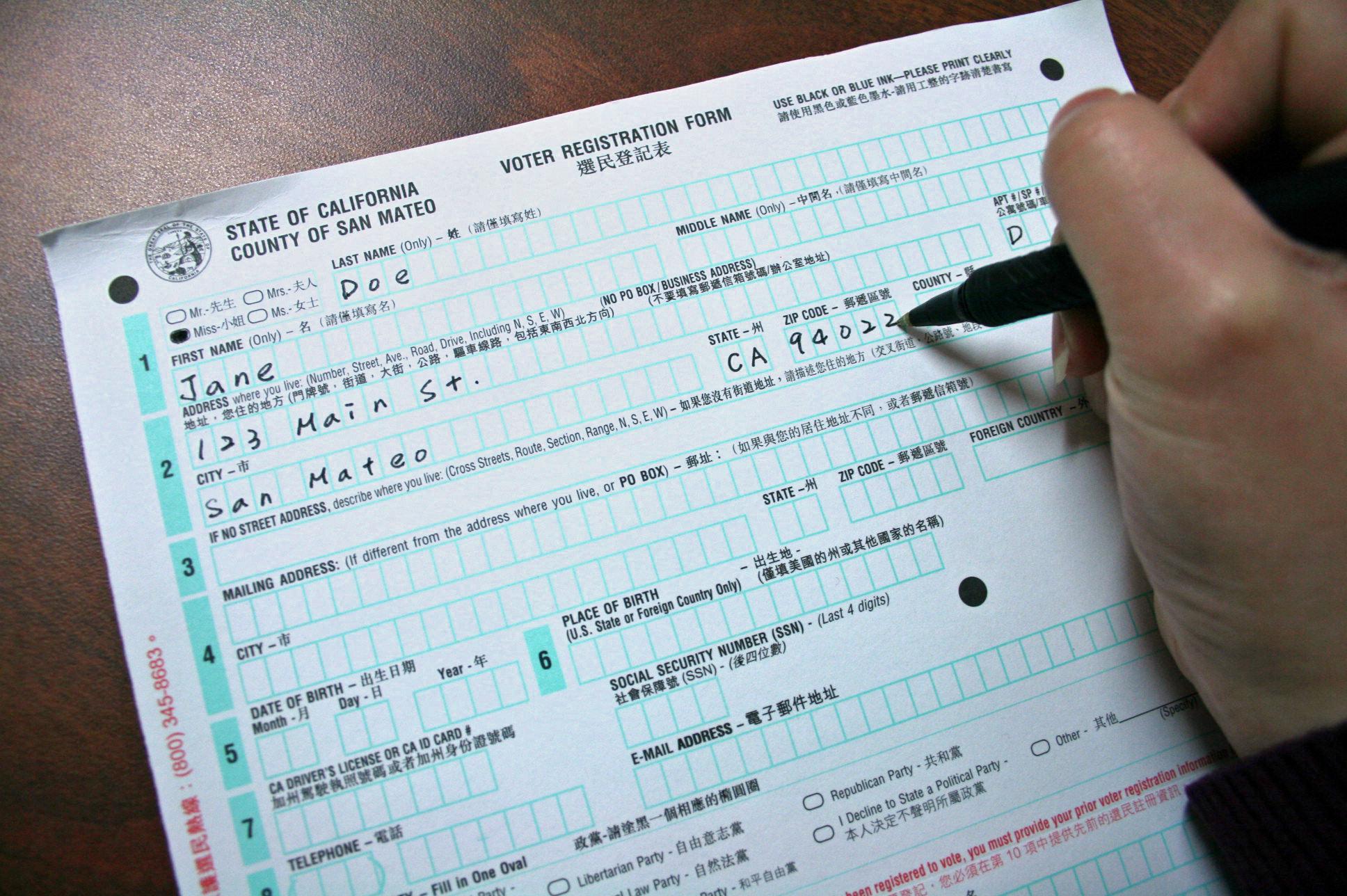 Voter Reg Forms