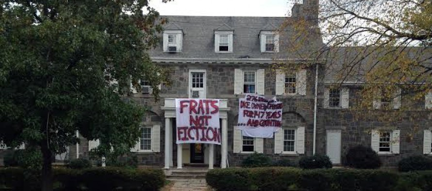 Feminists vandalize fraternity over refusal to be admitted