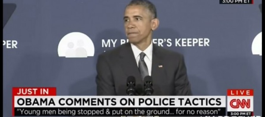 WATCH: Obama Uses BOGUS Statistics to Accuse U.S. Police of Being Racist