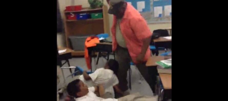 Shocking Video Shows Schoolkids Running in Terror as Teacher Whips 'Unruly' Children With His Belt (WATCH)