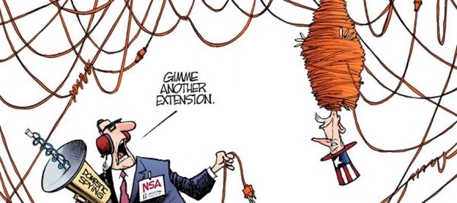 Patriot Act Extension (Cartoon)