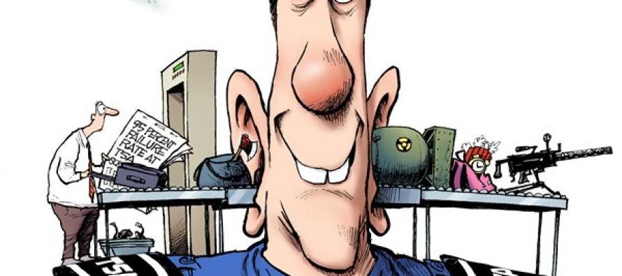 TSA Screening (Cartoon)