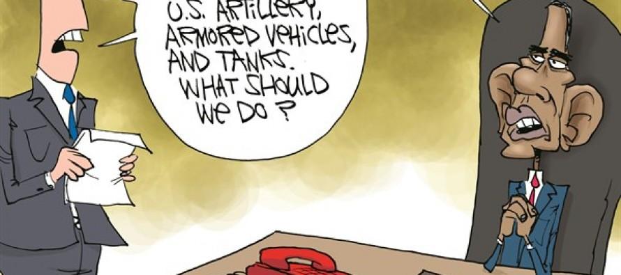 ISIS Takes US Tanks (Cartoon)