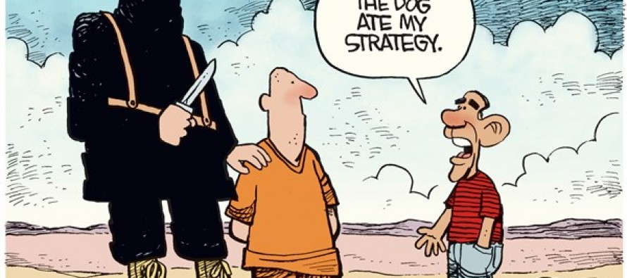Obama ISIS Strategy (Cartoon)