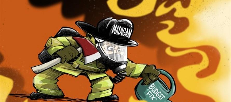 Budget Firefighter (Cartoon)