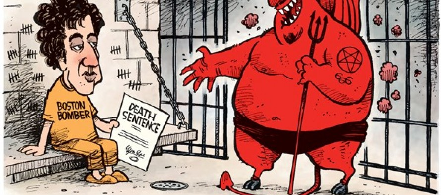Boston Bomber Sentenced (Cartoon)