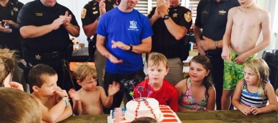 Boy Grants Birthday Wish for Child of Fallen Police Officer
