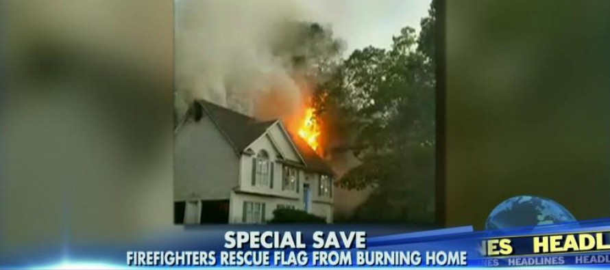 Firefighters Go Back into Burning Home to Save an Army Vet's Flag