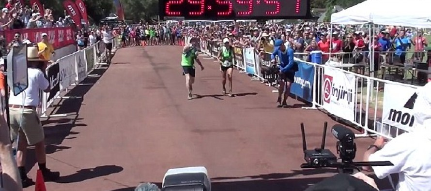 The incredible moment a 71 yr-old grandmother finishes 100-mile ultramarathon [Video]