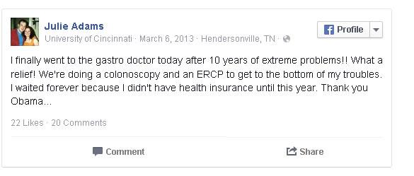 Julie Adams FB post