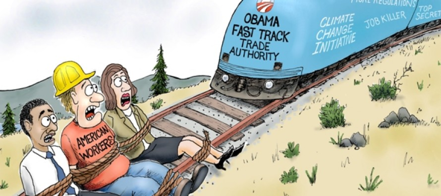Obama Fast Track (Cartoon)