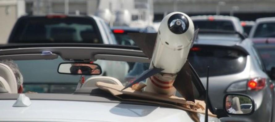 Florida man cruised around with something glaring in the passenger seat and no one bat an eye