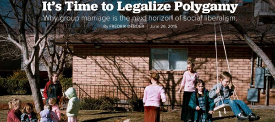"You Knew This Was Coming: ""It's Time To Legalize Polygamy"""