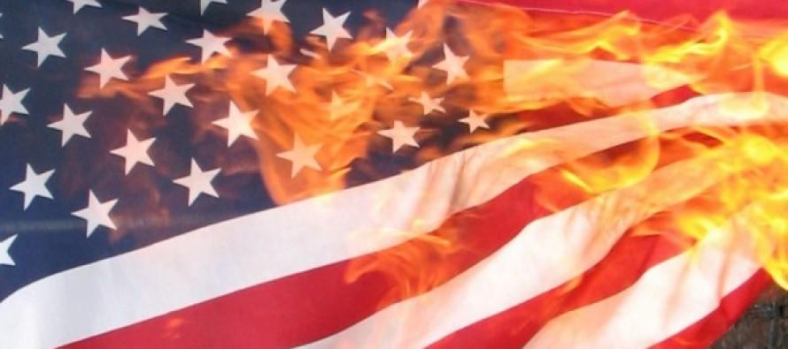 Black Activists Making Kids Burn American Flags In Mckinney, Texas