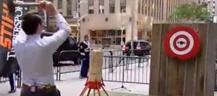 Fox News Host Could Have Killed Someone After Ax Stunt Went Horribly Wrong [Video]