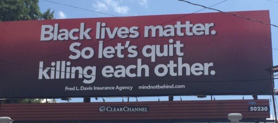 VIDEO: Activist who marched with MLK puts up provocative billboard about 'Black Lives Matter'