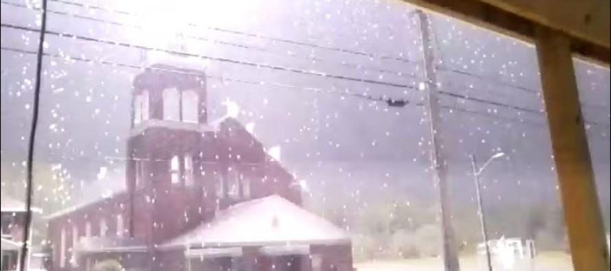 Video: When This Church Gets Struck by Lightning, You Will Jump Out of Your Seat