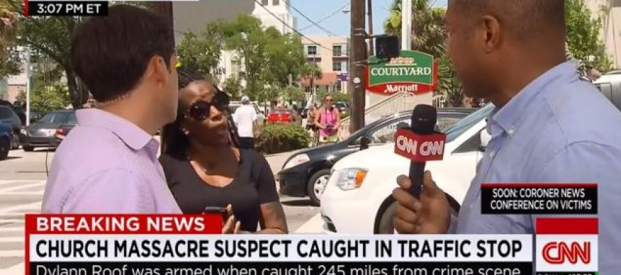 Watch This Black Woman's Racial Rant During Live Coverage on Charleston Shootings Force CNN to Cut to Commercial