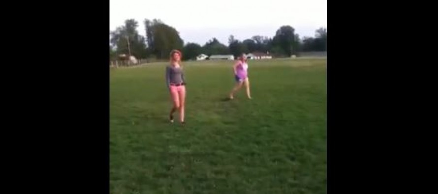 Video: The Girl In The Pink Shorts gets Sparta'd In This Fight