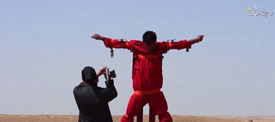 ISIS RATCHETS UP SAVAGERY: Cuts Limbs Off Iraqi Victim Hung on a Cross