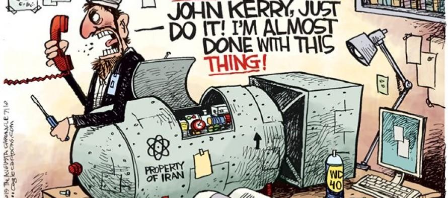 Iran Nuke Stall (Cartoon)