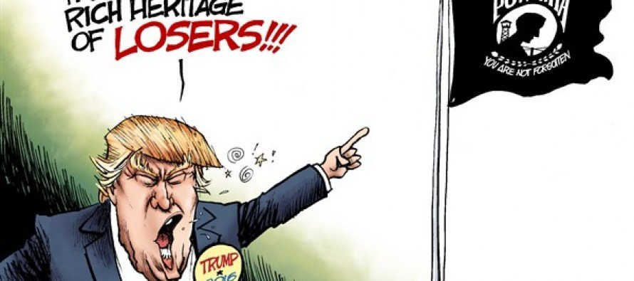 Flagging Trump (Cartoon)