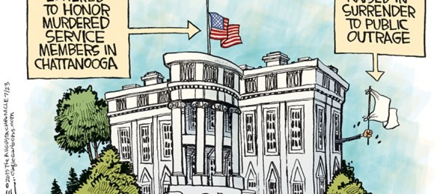 Obama Flags (Cartoon)