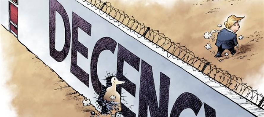 Trump at the Border (Cartoon)