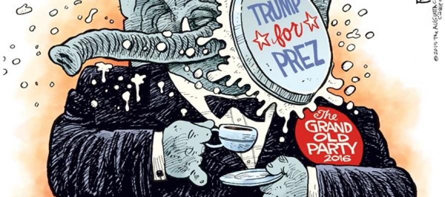 Trump Party Pooper (Cartoon)