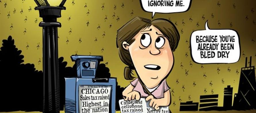 Illinois taxes (Cartoon)