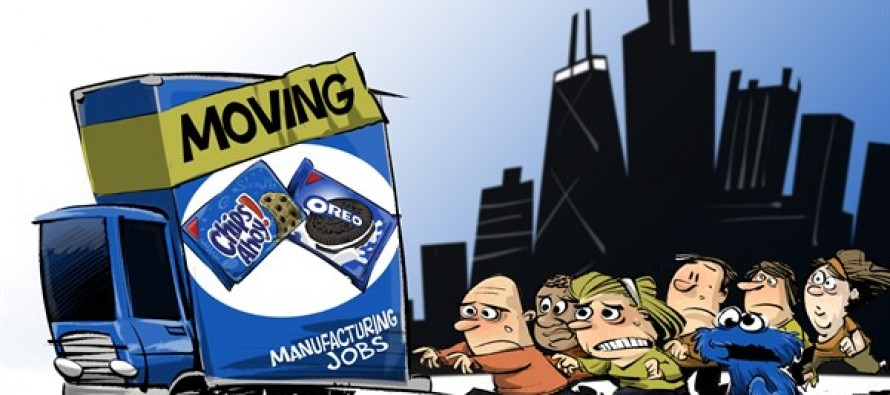 Illinois Manufacturing leaves (Cartoon)