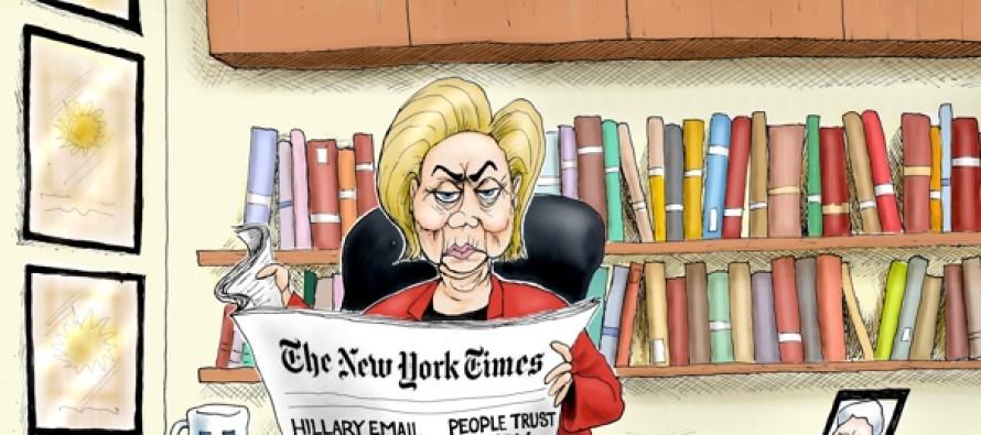 Hillary NY Times (Cartoon)