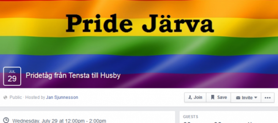GAY PRIDE PARADE Scheduled to March Through Muslim Area of Stockholm, Sweden