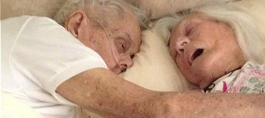 PICTURED: The dying embrace of husband and wife who were married for 75 years and died just hours apart