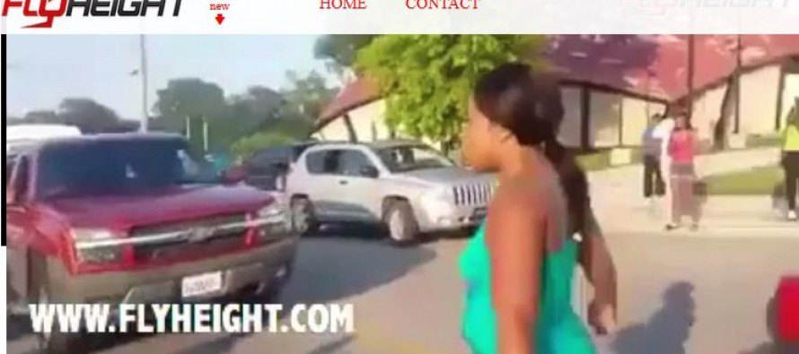 A Group of Girls are Hit by a Car While Trying to Fight in the Middle of the Road [Video]