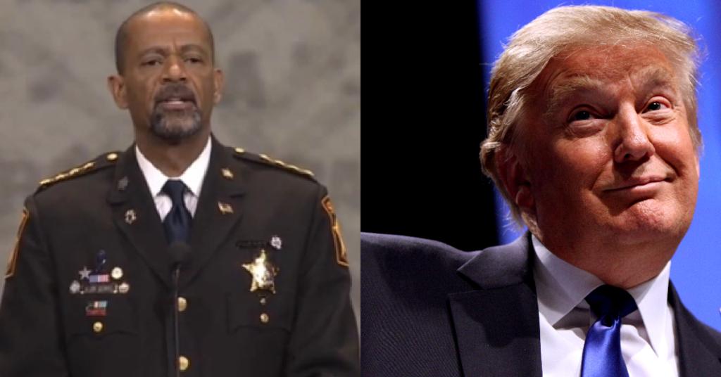 Sheriff Clarke Donald Trump1